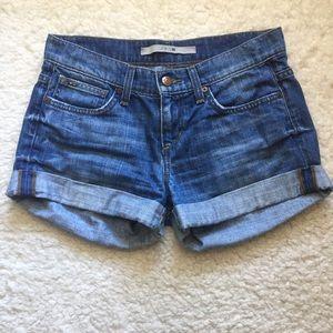 Joe's Jeans Cuffed Distressed Denim Short Size 24
